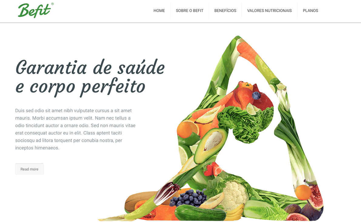 Website para fitness