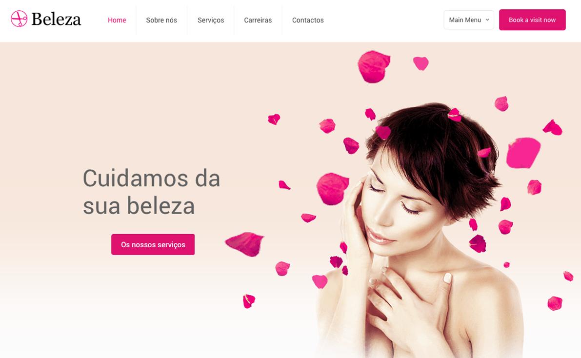 Website para salão de beleza