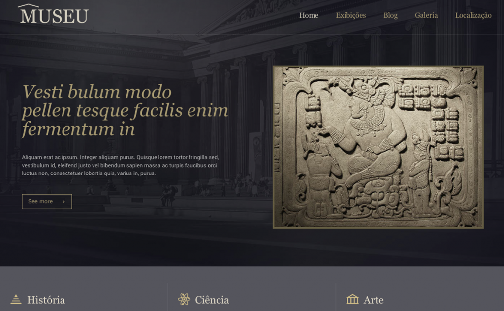 Website para museu