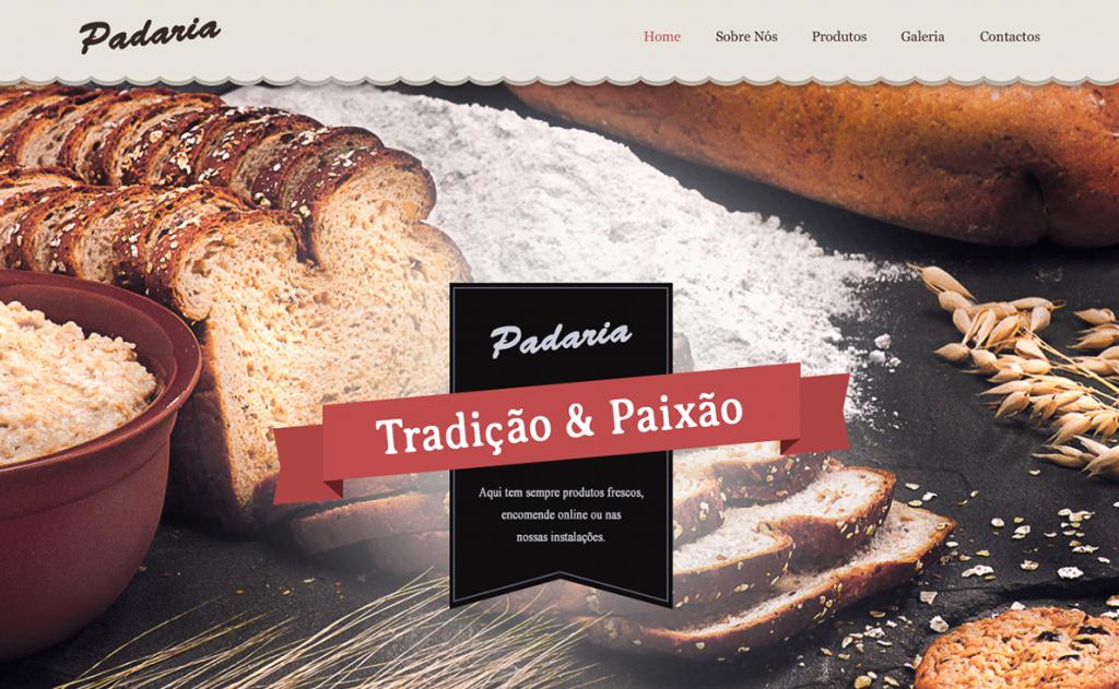 Website para padaria