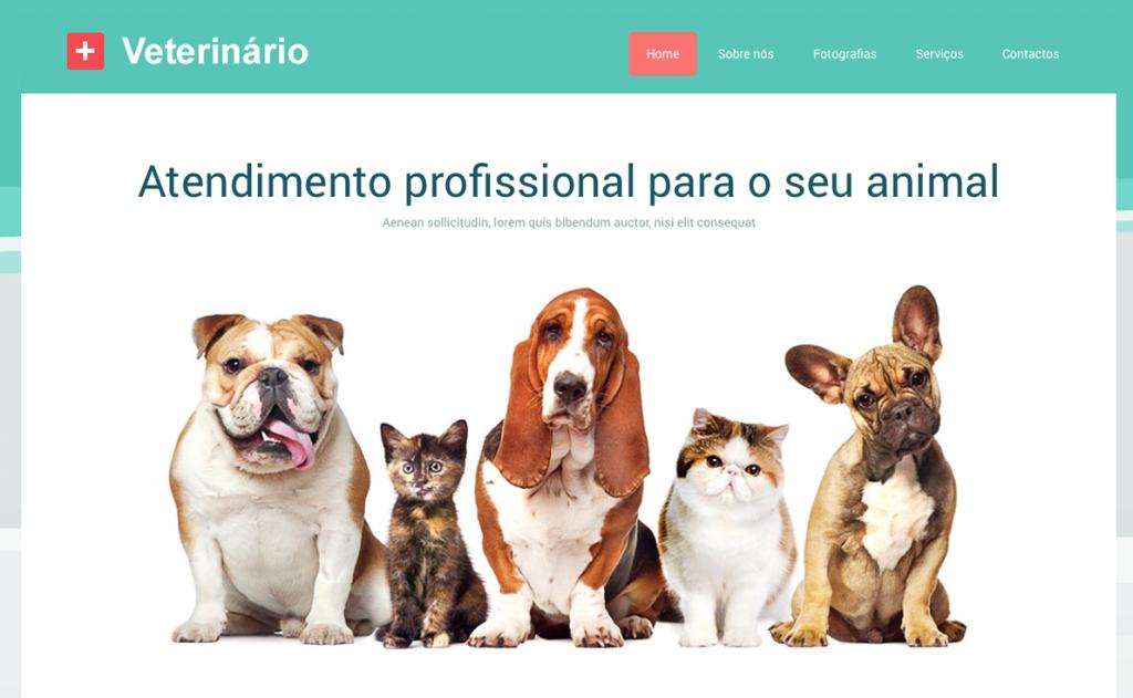 Website para veterinário